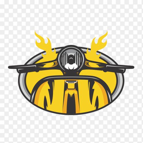Skull ghost rider road logo design illustration clipart PNG