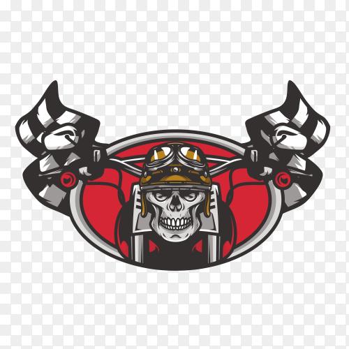 Skull ghost rider road logo design illustration vector PNG