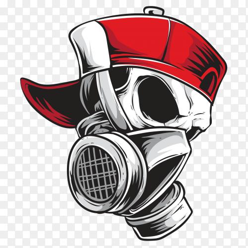 Skull graffiti Premium Vector PNG
