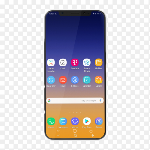 Smartphone mobile Premium image PNG