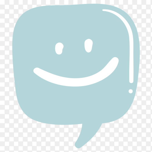 Smile massage icon on transparent background PNG