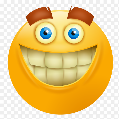 Smiley face emoji on transparent background PNG
