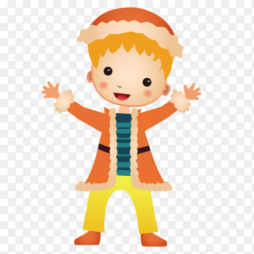 Smiling boy on transparent background PNG