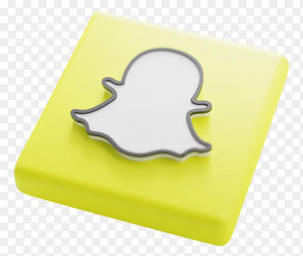 Snapchat logo design on transparent background PNG
