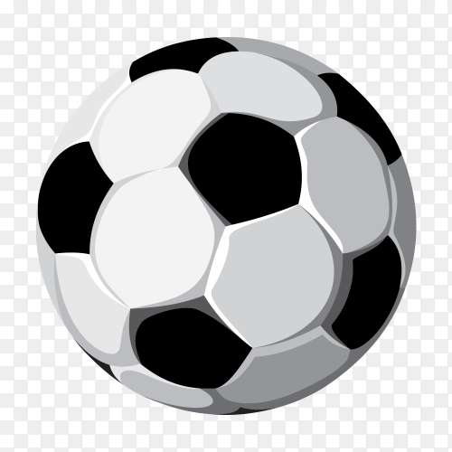 Soccer Ball on transparent background PNG