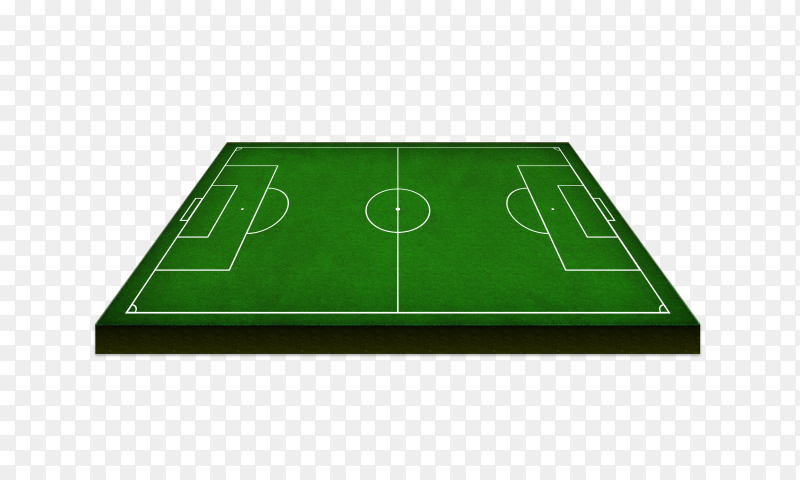 Soccer green field Premium vector PNG