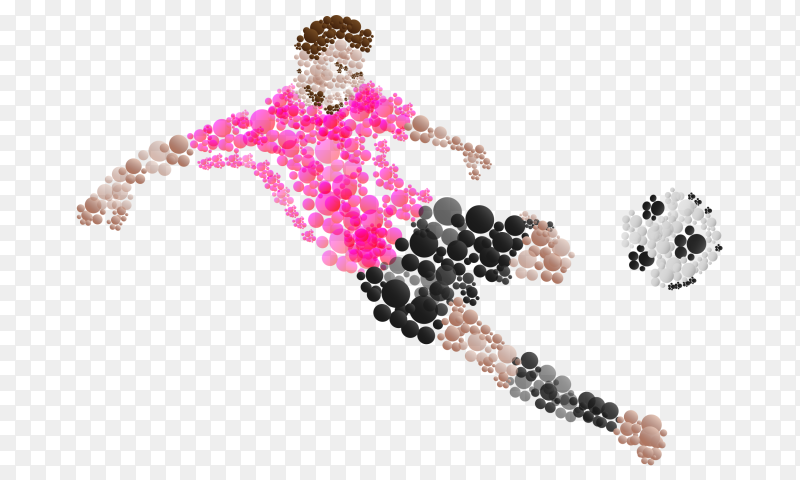 Soccer player logo  on transparent background PNG