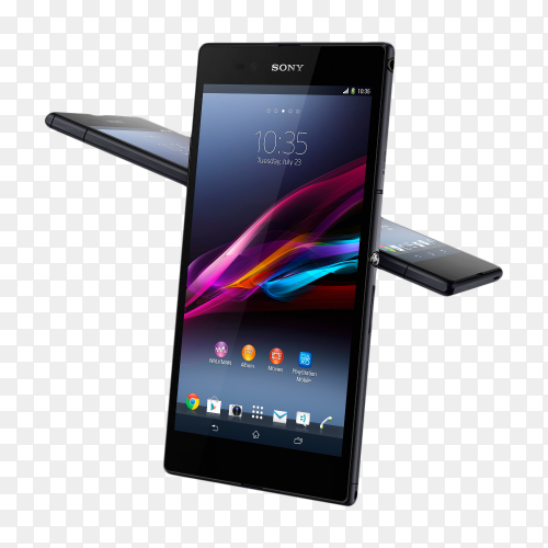 Sony Xperia Z Ultra smartphone mobile on transparent background PNG