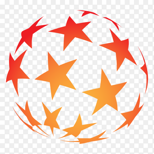 Stars ball Premium vector PNG