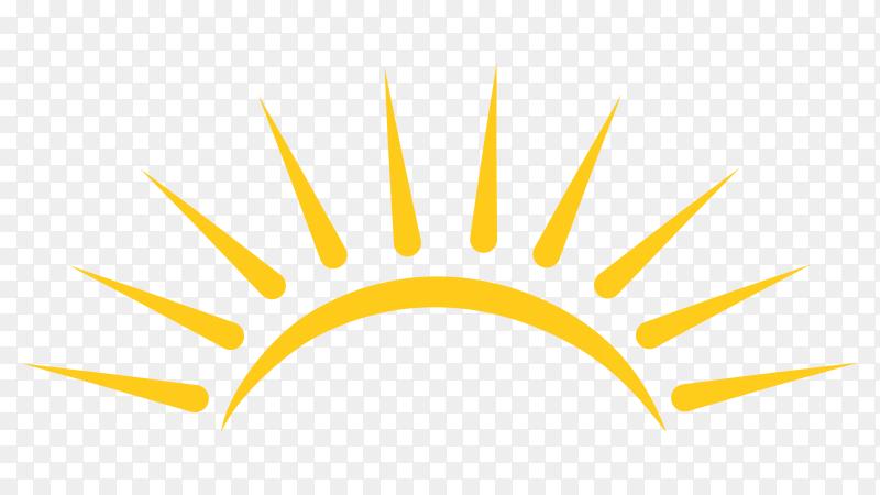 Sun logo on transparent background PNG