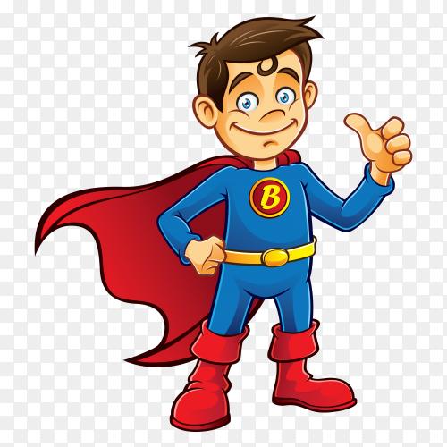 Superman cartoon Premium vector PNG