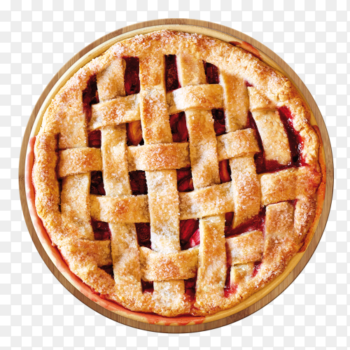 Tasty Cherry pie  on transparent background PNG