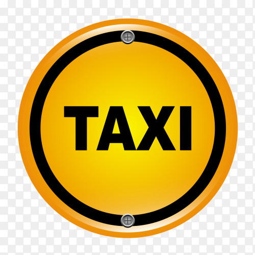 Taxi logo icon on transparent background PNG