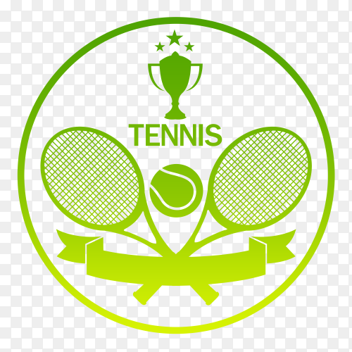 Tennis Logo on  transparent background PNG