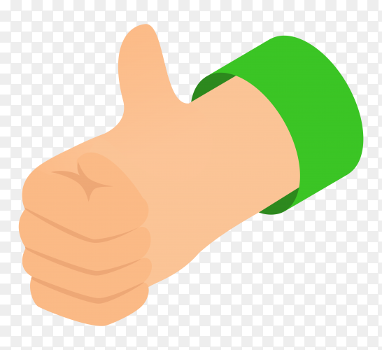 Thumbs up icon on transparent background PNG