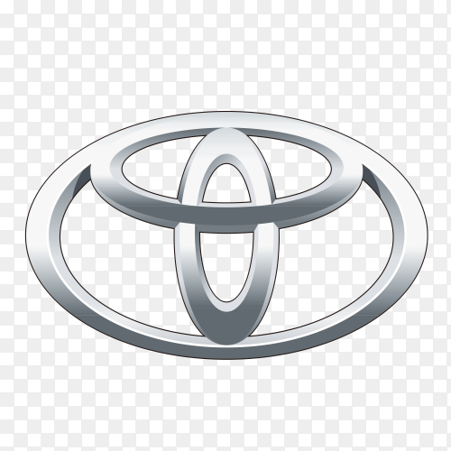 Toyota logo icon on transparent  PNG