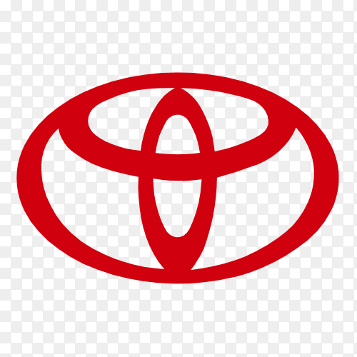 Toyota logo icon on transparent background PNG
