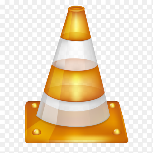 Traffic cone isolated on transparent background PNG