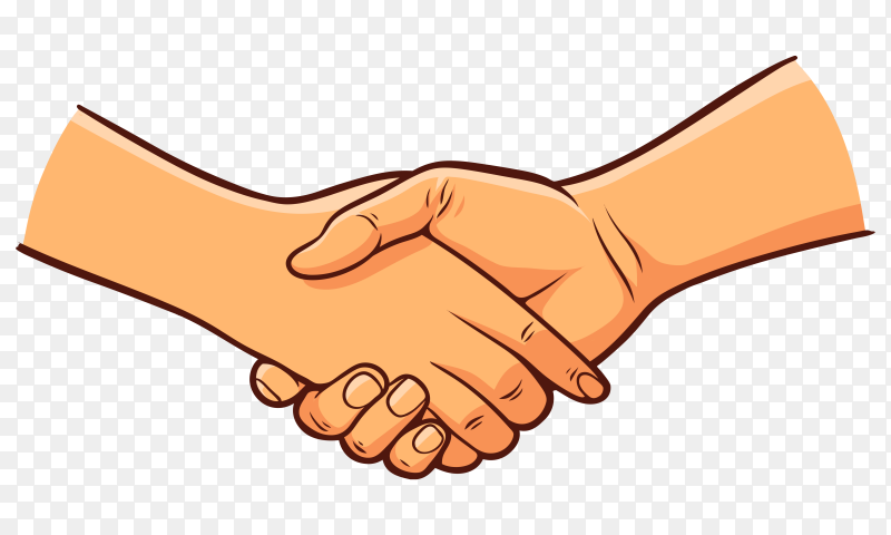 Two Hand Holding Each Other on transparent background PNG
