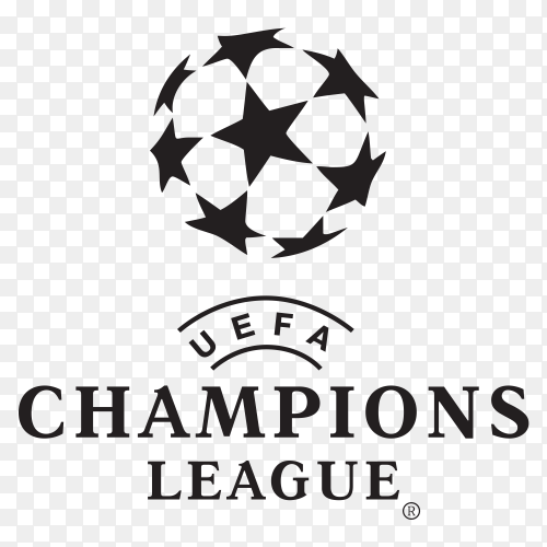 Uefa champions league Logo on transparent background PNG