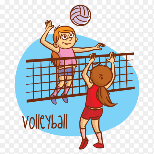 Volleyball sport on transparent background PNG
