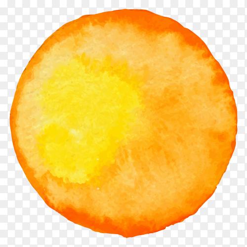 Water color sun Premium vector PNG