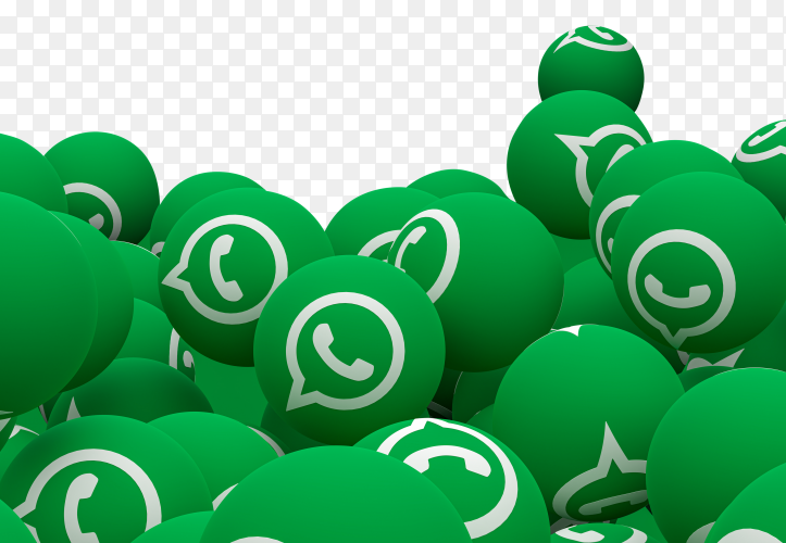 Whatsapp icons 3d render Premium vector PNG