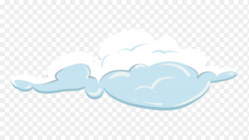 White cloud in the sky on transparent background PNG