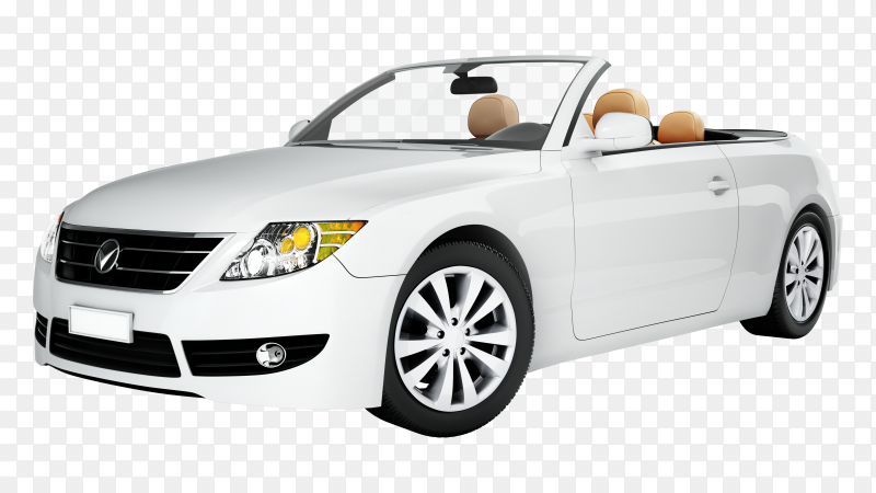 White modern car premium vector PNG