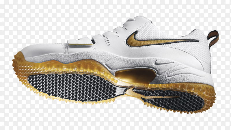 White nike shoes on transparent background PNG