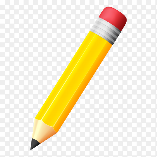 Writting pencil design on transparent background PNG