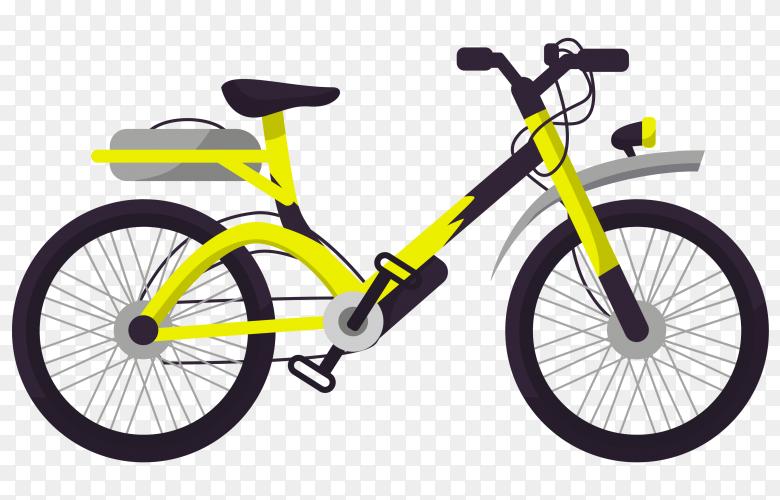 Yellow bicycle Premium Vector PNG