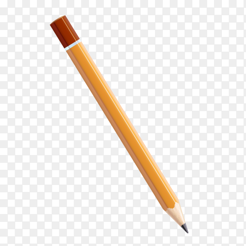 Yellow pencil Premium vector PNG