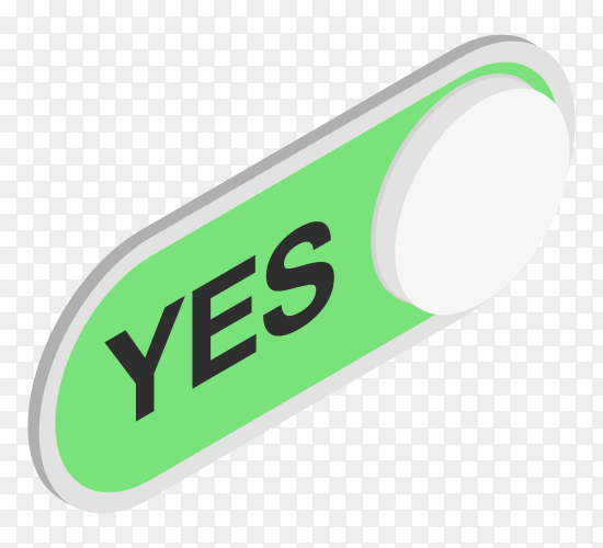 Yes green checkmark premium vector PNG