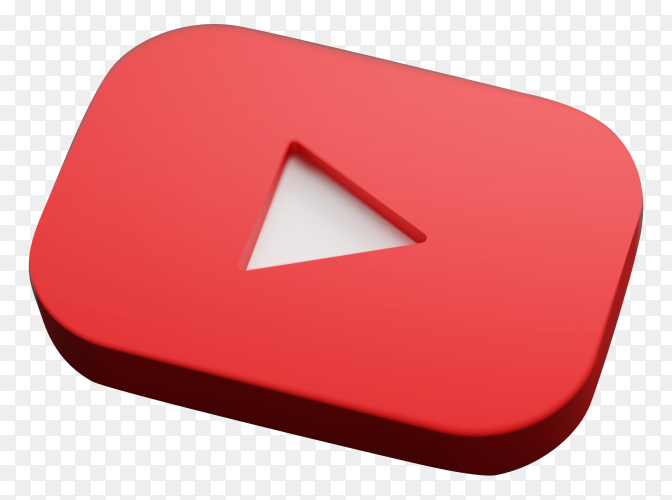 Youtube logo icon on transparent background PNG