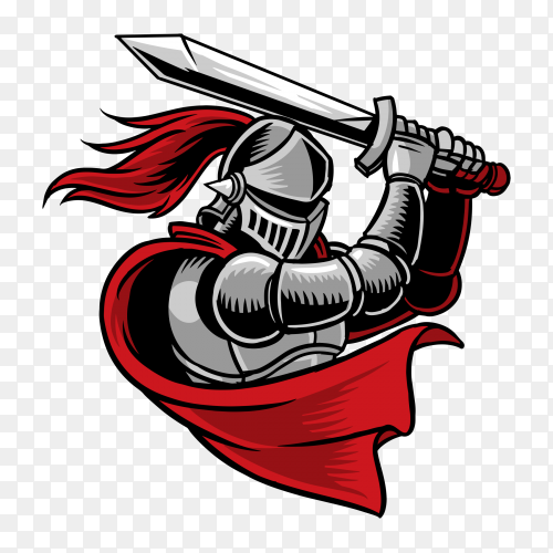 knight illustration on transparent background PNG