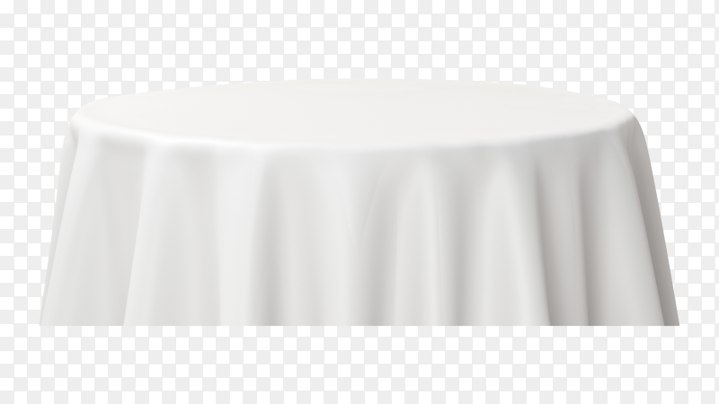 White empty dinner table on transparent background PNG