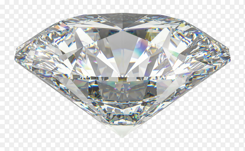 3D Diamond on transparent backgroudn PNG