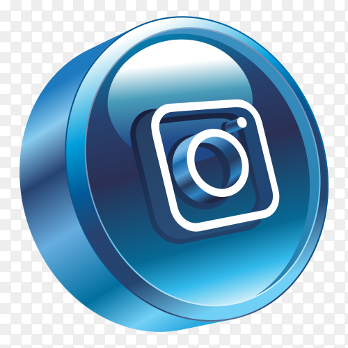 3D Instagram Logo on transparent background PNG