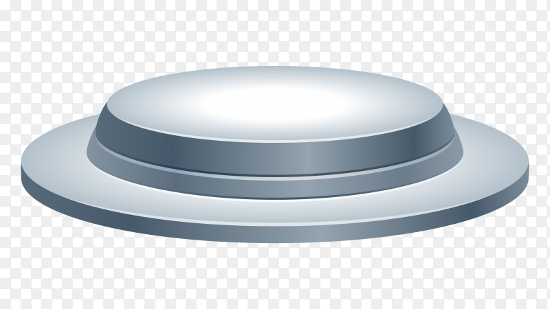 3D abstract  render Gray podium on transparent background PNG