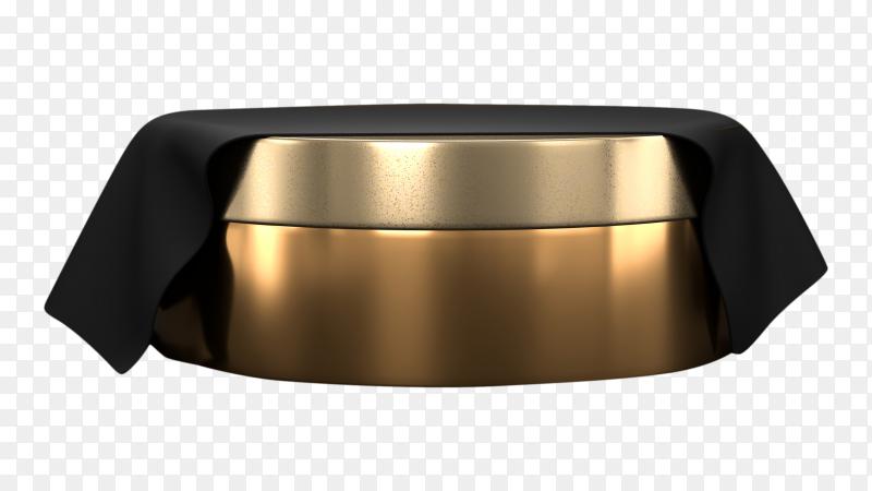 3D abstract platform podium on  transparent background PNG