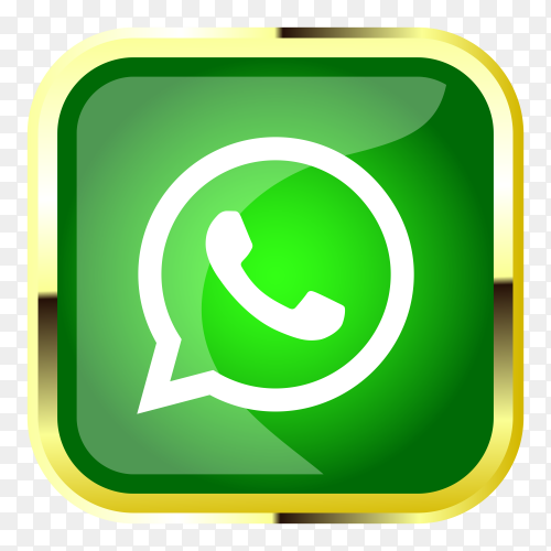 3D whatsapp logo on transparent PNG