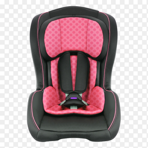 A childs car seat isolated on transparent background PNG