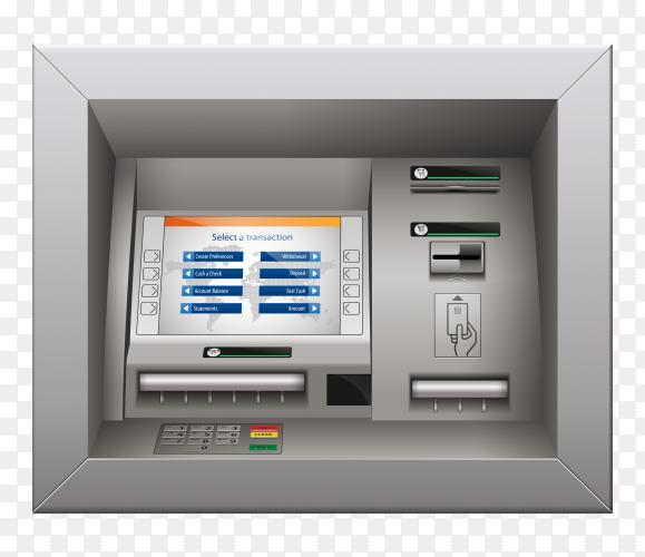 ATM mashine on transparent background PNG