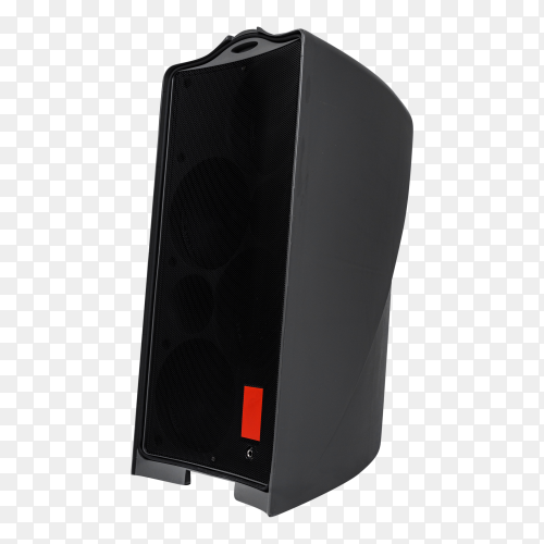 Acoustic system audio column on transparent background PNG