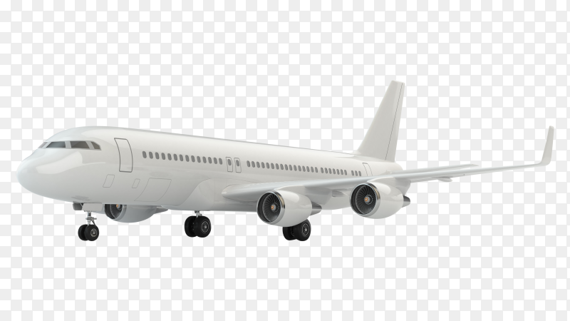 Airplane isolated on transparent PNG