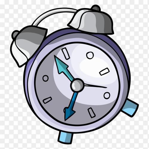 Alarm clock on transparent background PNG