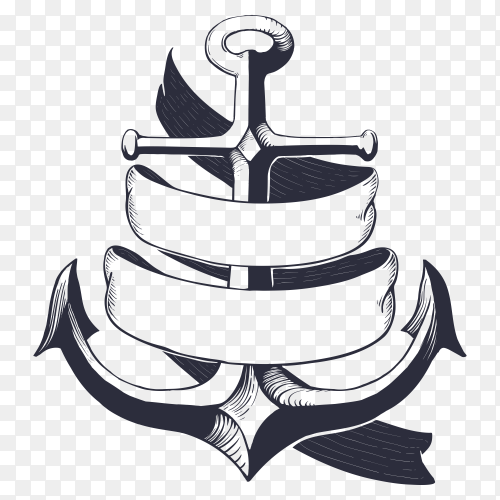 Anchor Design illustration on transparent background PNG