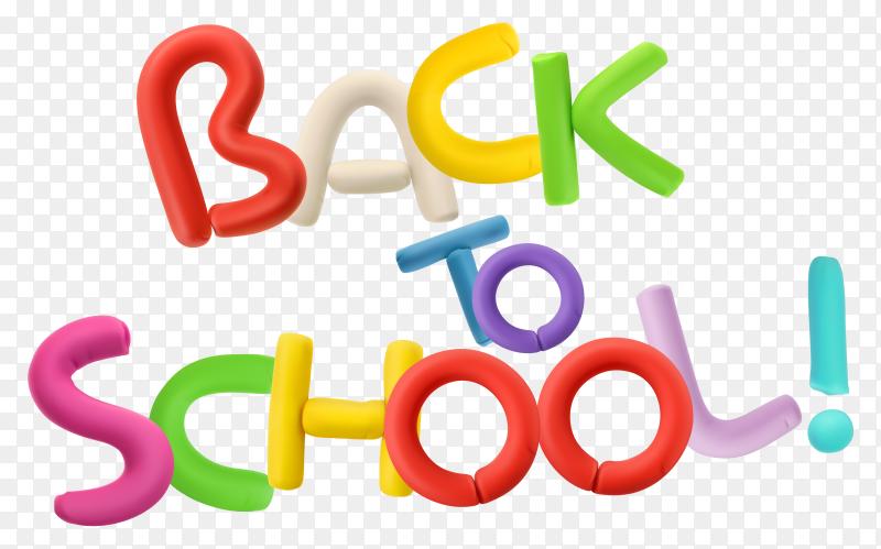 Back to school lettering design on transparent background PNG