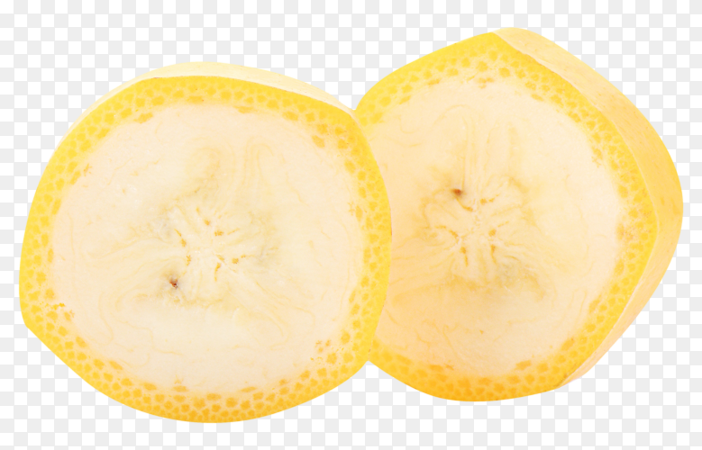 Banana slices isolated on transparent background PNG
